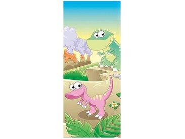 Bilderdepot24 Deco-Panel, Türaufkleber - Kinderbild Baby Dinos