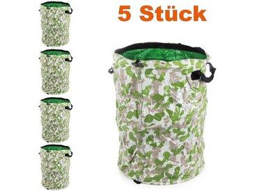 RAMROXX Gartenbox » Gartentasche Laubsack Abfall Sack faltbar 52×42cm 70L Tarnfarbe 5 Stück« (5 Stück)