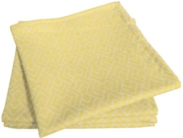 Adam Stoffserviette »Graphic Ventus Light«, nachhaltig, GOTS zertifiziert, gelb, gelb