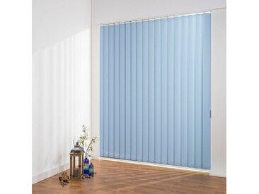 Liedeco Lamellenvorhang »Lamellenvorhang Vertikalanlage perlex - 89 mm Lamelle«, freihängend, Kürzbare Vertikalanlage Perlex, blau, hellblau