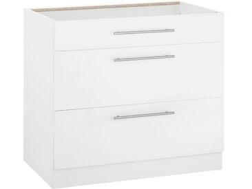wiho Küchen Unterschrank »Flexi2« Breite 90 cm, weiß, weiß/weiß