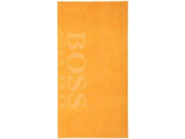Hugo Boss Home Strandtuch »CARVED« (1-St), Samt-Jacquard, gelb, sun