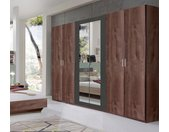 Wimex Kleiderschrank »Angie« mit Spiegeltüren, beige, Türen: 6, schlammeichefarben/graphit