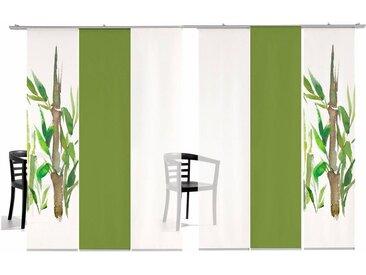 emotion textiles Schiebegardine »Bambus SET«, Klettband (6 Stück), HxB: 260x60, inkl. Befestigungszubehör