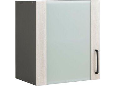 wiho Küchen Glashängeschrank »Esbo« Front mit Glaseinsatz, natur, Wilton Oak/Anthrazit