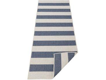 andas Läufer »Alan«, rechteckig, Höhe 5 mm, In- und Outdoor geeignet, Wendeteppich, blau, blau