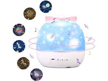 LBLA LED-Sternenhimmel »LED-Sternenhimmel Projektor«, rotierender Wasserwellen-Sternprojektor,Ferngesteuertes Nachtlicht mit USB
