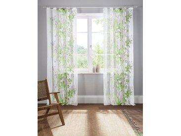 Home affaire Gardine »Ina«, Kräuselband (2 Stück), Vorhang, Fertiggardine, transparent, grün, grün