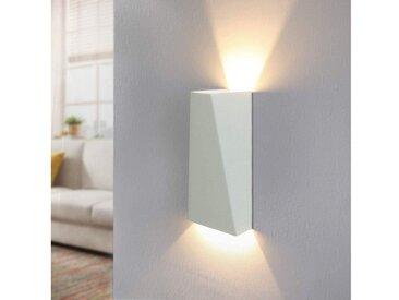 ZMH LED Wandleuchte »Modern Innen Wandlampe Warmweiß 7W Wandstrahler aus Aluminium in Weiß mit Up & Down-Effekt«