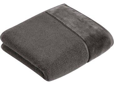 Vossen Handtücher »Pure« (2-St), BIO Baumwolle & Vegan, grau, lavastone