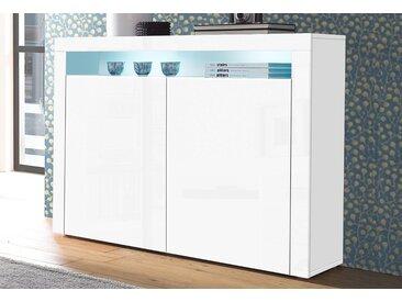 borchardt Möbel Highboard, Breite 107 cm, weiß, weiß Hochglanz