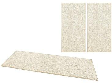 BT Carpet Bettumrandung »Wolly 2« , Höhe 12 mm, Woll-Optik, Hoch-Tief-Effekt, natur, creme
