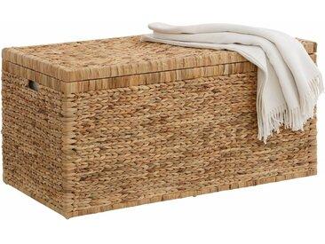 Home affaire Truhe, innen mit Baumwolle bespannt, natur, natur