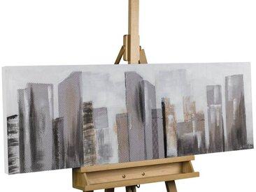 KUNSTLOFT Gemälde »Between Skyscrapers«, handgemaltes Bild auf Leinwand