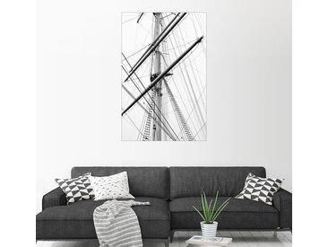 Posterlounge Wandbild, Detailansicht eines Segelbootmastes, Premium-Poster