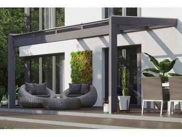 Skanholz Terrassendach »Novara«, BxT: 450x309 cm, grau, farbig lasiert, schiefergrau