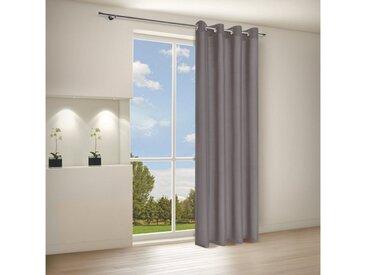 Gerster Vorhang »CATHY Elegante Vorhänge Ösenschal 140/235 cm Halbtransparent«, Ösen (1 Stück), grau, grau