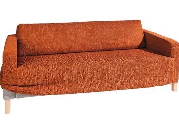 GAICO Sofahusse »Paula«, in fein gemusterter Struktur-Optik, orange, Sofahusse (3-Sitzer), terrakotta