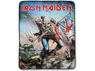 Klangundkleid Bett, »Iron Maiden Trooper Fleecedecke schwarz 100% Polyester 130 x 160 cm Neu Top«