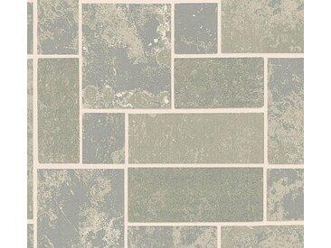 living walls Schaumtapete »Il Decoro«, Fliesen-Optik, grau, metallic
