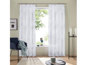 my home Gardine »Belem«, Kräuselband (1 Stück), Vorhang, Fertiggardine, transparent, weiß, weiß