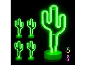 relaxdays LED Nachtlicht »5 x LED Neonlicht Kaktus«
