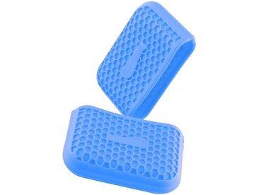Kochblume Topfhandschuhe »Griffschutz«, (Set, 2-tlg), Hitzebeständig bis 230°, blau, hellblau