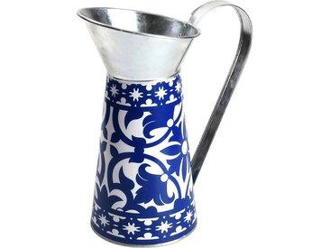"""esschert design Gießkanne »Zink Deko Kanne """"Blaue Ornamente"""", ca. H25 cm«"""