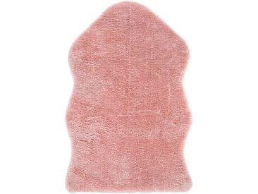 Andiamo Fellteppich »Lamm Fellimitat«, fellförmig, Höhe 20 mm, Kunstfell, besonders weich durch Microfaser, waschbar, rosa, rosa
