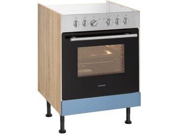 OPTIFIT Herdumbauschrank »Elga«, mit höhenverstellbaren Füßen, Breite 60 cm, blau, lichtblau/eichefarben