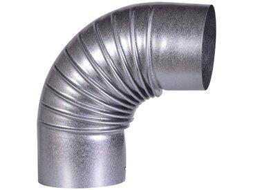 Firefix FIREFIX Rohrbogen feueraluminiert, starr, für 100 mm FAL-Ofenrohr, silberfarben, silberfarben