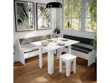 Vicco Sitzgruppe »Eckbankgruppe Roman Weiß 180x180cm Esszimmergruppe Eckbank Sitzgruppe«, Set 7, Weiß