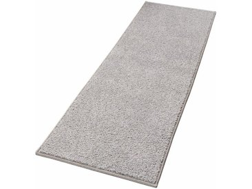 HANSE Home Läufer »Pure 100«, rechteckig, Höhe 13 mm, Velours Haptik, grau, grau
