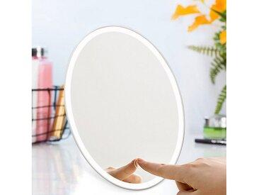 style home Kosmetikspiegel, Make up Spiegel, Faltbarer Schminkspiegel mit LED Beleuchtung, Standspiegel Tischspiegel Rasierspiegel