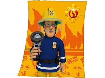 Herding Feuerwehrmann Sam Fleece-Decke, 130 x 160 cm