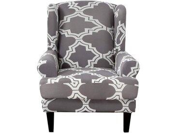TOPMELON Sofahusse, Stuhlbezug, Einsitzer, Flügel zurück Stuhl-Abdeckung, grau, Grau#