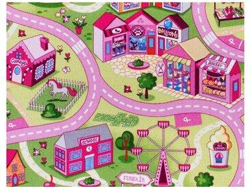 Andiamo ANDIAMO Teppichboden »Coupon Sweet Town«, Breite 400 cm, Meterware, bunt, multicolor