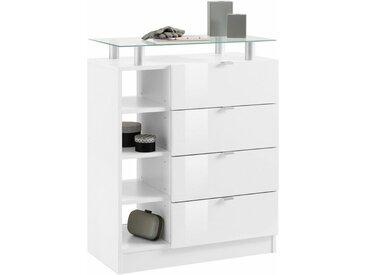 borchardt Möbel Kommode »Dolly«, Breite 67 cm, weiß, weiß matt/weiß Hochglanz