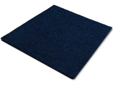casa pura Teppichfliese »Can Can«, Quadratisch, Höhe 6 mm, Gerippt, Selbstliegend, blau, Laguneblau