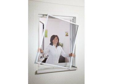 hecht international HECHT Insektenschutz-Fenster »COMPACT«, weiß/anthrazit, BxH: 130x150 cm, grau, Fenster, 130 cm x 150 cm, anthrazit