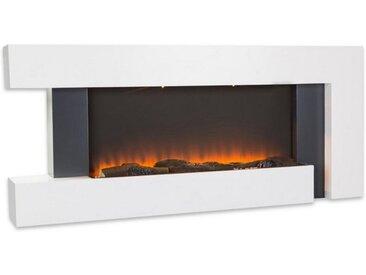 Klarstein Elektrokamin Wandkamin Heizlüfter Elektrischer Kamin 1000/2000W »Studio Light & Fire 2«, weiß, Weiß