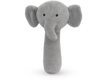 Jollein Rasselfigur »Baby Rassel Plüsch Elefant«, grau, Grau