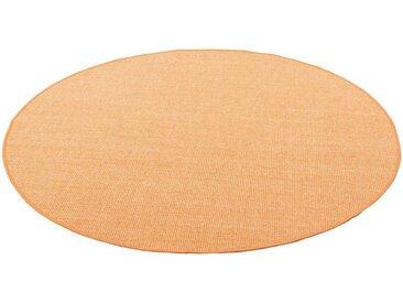 Snapstyle Sisalteppich »Sisal Natur Teppich Rund«, Rund, Höhe 6 mm, orange, Orange