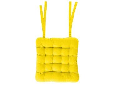 BUTLERS Sitzkissen » SOLID Stuhlkissen L 35 x B 37cm«, gelb, Gelb