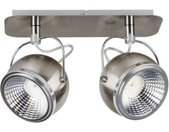 SPOT Light Deckenleuchten »Ball«, Inklusive LED-Leuchtmittel, Schwenkbare und flexible Spots, silberfarben