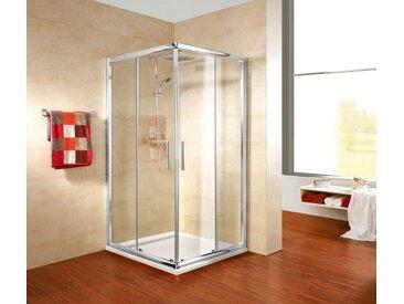 Schulte SCHULTE Sparset: Eckeinstieg »Kristall Trend«, BxT: 80 x 80 cm, silberfarben, chromfarben