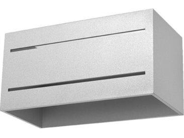 Licht-Erlebnisse Wandleuchte »CAMILLIA Wandlampe Grau Metall indirekt 2xG9 Up Down Treppe Wohnzimmer«