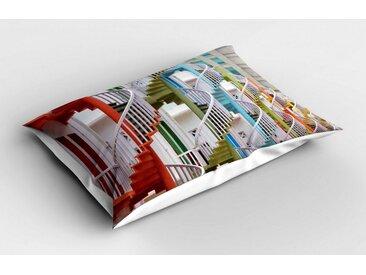 Abakuhaus Kissenbezug »Dekorativer Standard Size Gedruckter Kopfkissenbezug«, Die Architektur Gewundene Treppe Szene