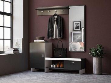 INOSIGN Garderoben-Set »Ingrid«, (Set, 3-St), grau, graphit-weiß