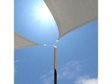 AMANKA Sonnensegel »UV Sonnensegel Sonnenschutz Plane Überdachung«, 5x5x5 m HDPE Dreieck grau